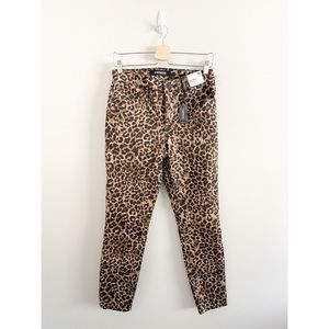 Express Ankle Legging High Rise Leopard Jeans